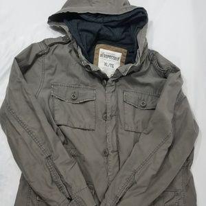 Aeropostale Army Green Hooded Utility Jacket XL